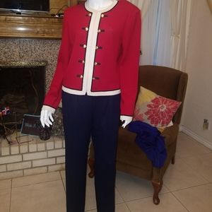 ST.JOHN  jacket & pants by Mary Gray  sz 8